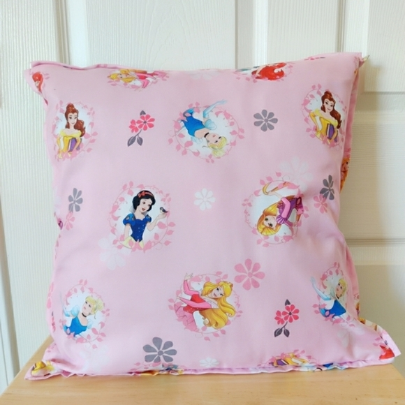 Lot of 3 Disney Princess accent pillow covers